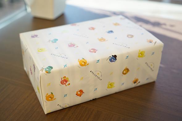 包装紙がかわいい