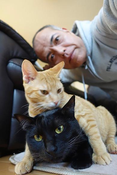 田中要次さんと猫たち