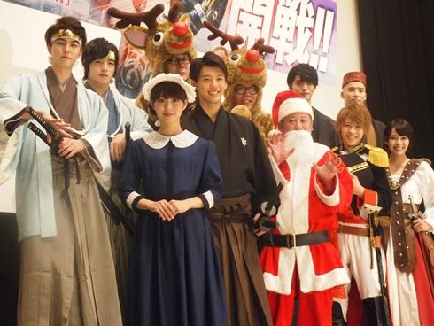 上段左から稲葉友さん、上遠野太洸さん、シソンヌの2人、山本涼介さん、柳喬之さん、下段左から内田理央さん、竹内涼真さん、ケンドーコバヤシさん、西銘駿さん、大沢ひかるさん