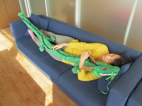 抱き枕になる神龍