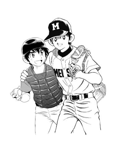 あだち充先生と満田拓也先生による合作イラスト