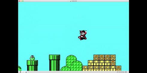 マリオブラザーズ3PC版デモたぬきジャンプ