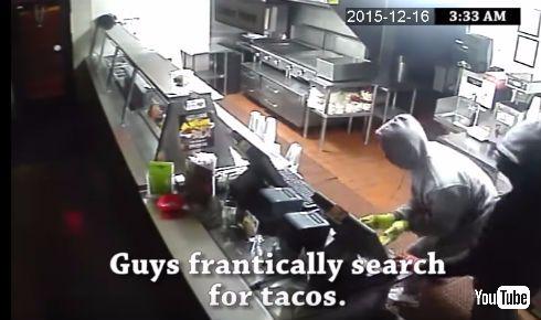 タコス店の窃盗犯CM