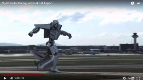 飛行機ロボット
