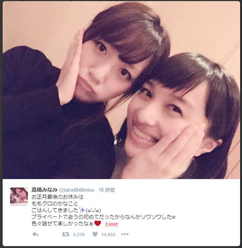 高橋みなみさんと百田夏菜子さん