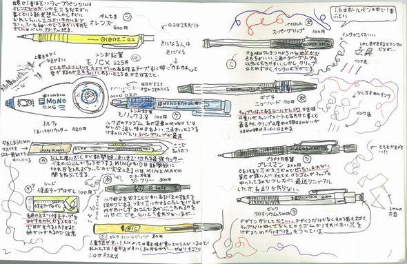 好きな文具を手描きで100ページ紹介 小6が自由研究で作った ...