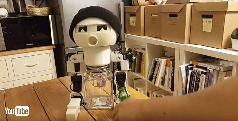 一緒にお酒を飲んでくれるロボット