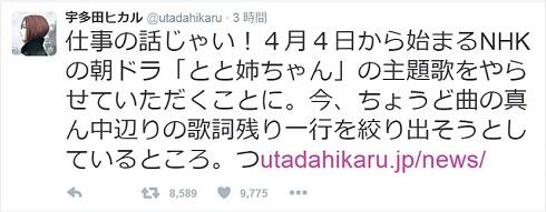 宇多田ヒカルさんのツイート