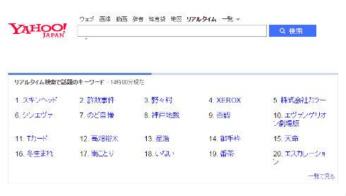 Yahoo!���A���^�C������