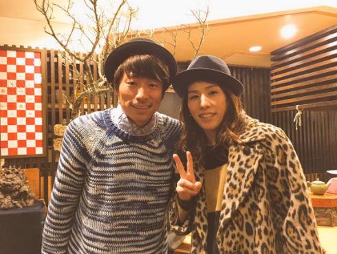 田村淳さんと吉田沙保里さんのツーショット写真
