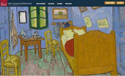 シカゴ美術館がゴッホの寝室を貸出