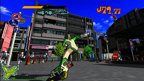 「ジェットセットラジオ」ゲーム画面