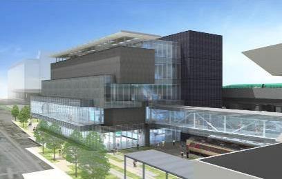 鉄道博物館新館4階建に変更
