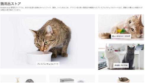 Amazonが猫用品ストアをオープン