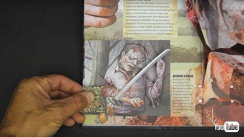 「ウォーキング・デッド」飛び出す絵本に刀を持った男性