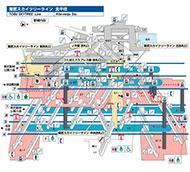 東武スカイツリーライン 北千住駅 構内マップ