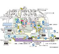 JR東日本 北千住駅 駅構内図