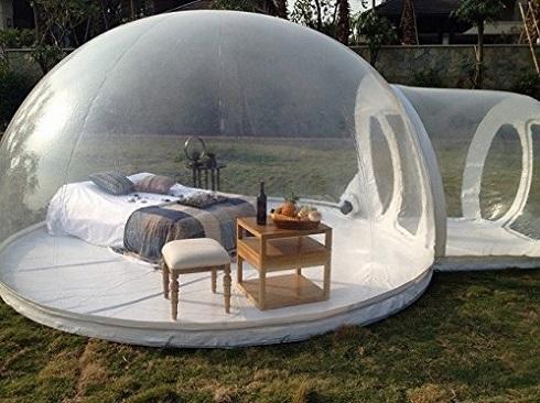 アウトドアに持ってこいの透明テント