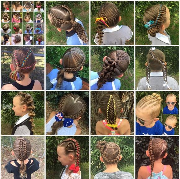 娘のヘアスタイル