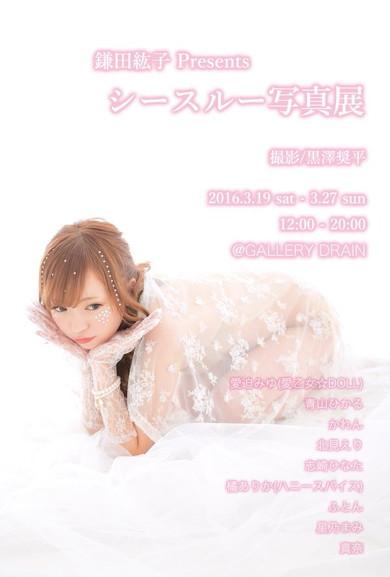 鎌田紘子Presents 「シースルー写真展」