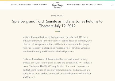 ディズニー公式「インディ・ジョーンズ」最新作