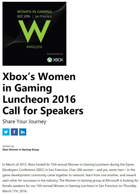 Women in Gaming Luncheon