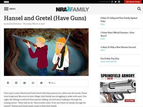 銃を持ったヘンゼルとグレーテル