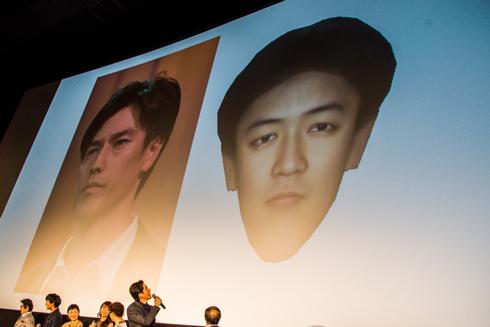 要潤と、100年後の平均的な日本人の顔の予想図の比較