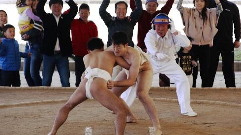 石場相撲大会行司