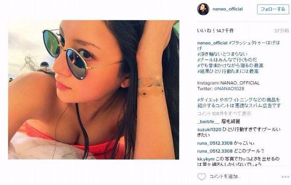 菜々緒Instagram