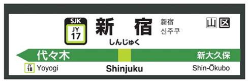 ホーム駅名標への表示イメージ