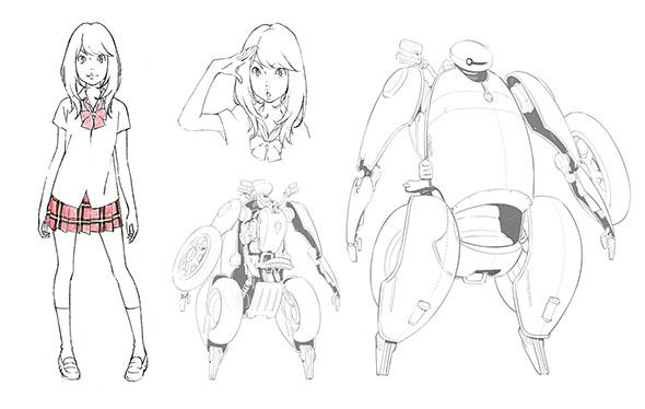 キャラクターデザイン画
