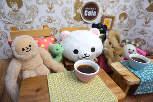 ぬいぐるみサイズの焙煎コーヒー