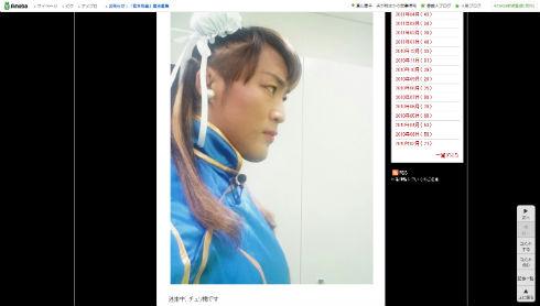 棚橋弘至選手の春麗コス