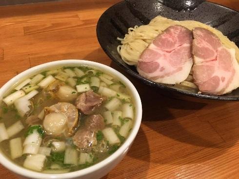 HK(帆立と鴨)な塩つけ麺