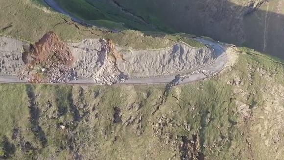 ラピュタの道崩落