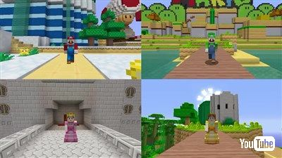 WiiU版マインクラフト「スーパーマリオ・マッシュアップ」