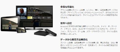 Amazonビデオ ダイレクトの特徴