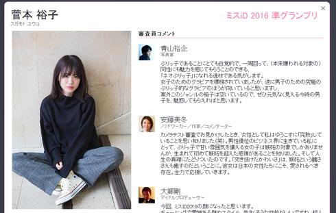 菅本裕子 ミスiD 2016