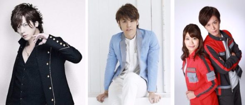 「ウルトラマンの日」イベント1日目のLIVEに出演するDAIGOさん、宮野真守さん、ボイジャーの2人