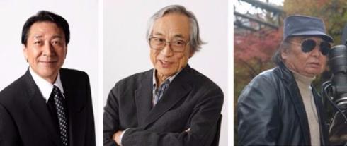 2日目の「ウルトラマンの日」トークイベントに出演するウルトラマンのスーツアクター・古谷敏さん、監督の飯島敏宏、満田かずほさん