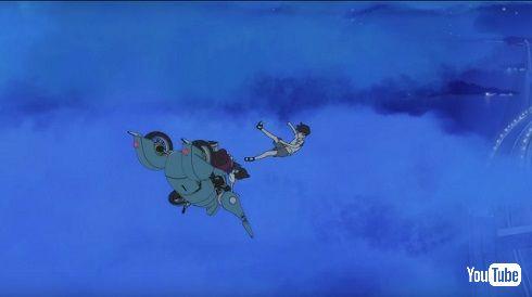 「ひるね姫」空中へ投げ出される