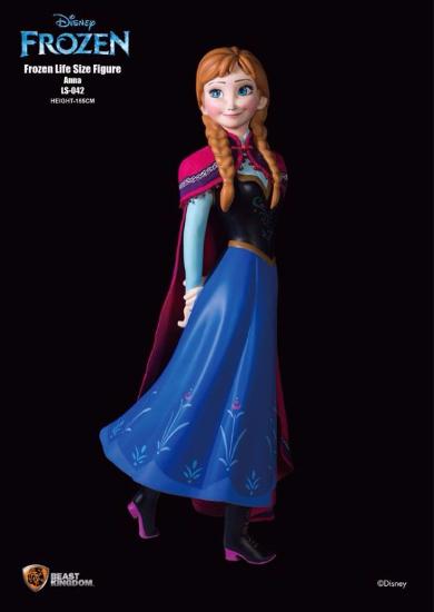 アナと雪の女王等身大フィギュア