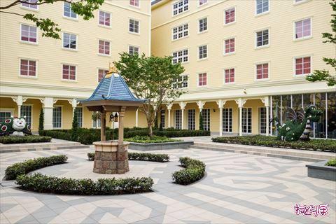 東京ディズニーセレブレーションホテル:ウィッシュ 中庭