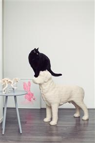 猫用絵画風「モナ・リザ」爪とぎ