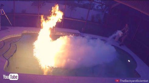 プール ジエチルエーテル 液体窒素 実験動画