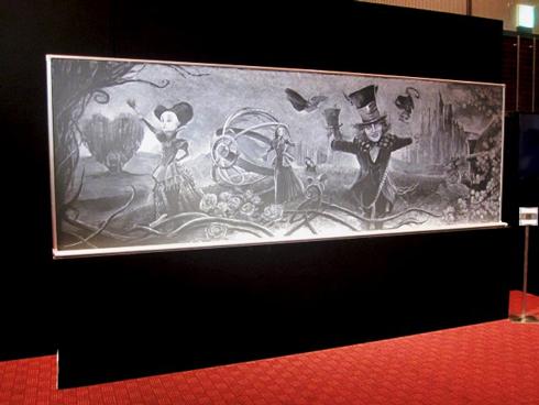 「アリス・イン・ワンダーランド/時間の旅」 れなれな 黒板アート