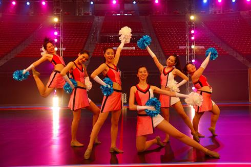「チア☆ダン 〜女子高生がチアダンスで全米制覇しちゃったホントの話〜」 サンディエゴ州立大学・ビーハスアリーナにて