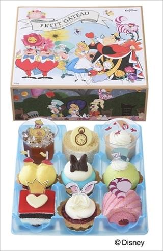 銀座コージーコーナー「ふしぎの国のアリス」プチケーキセット