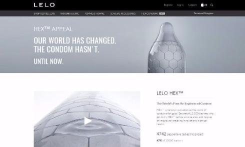 HEXコンドーム LELO 六角形